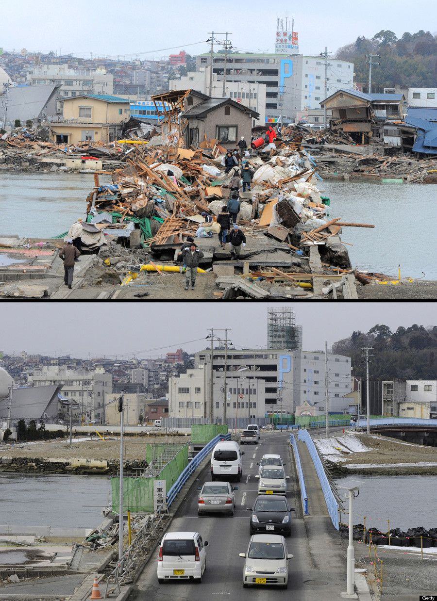 Kentucky Earthquake Map%0A Japan Earthquake Anniversary  Photos From Before And After Tsunami Show  Destruction