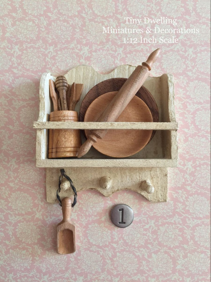 Miniature Kitchen Tools Dollhouse Wooden Utensils Miniature | Etsy