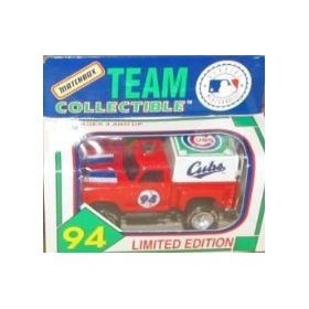 Chicago Cubs 1994 Matchbox MLB Diecast Ford Flareside Pick-up Truck White Rose Collectible Toy Car 1:64 Scale Pickup by MLB  $17.89