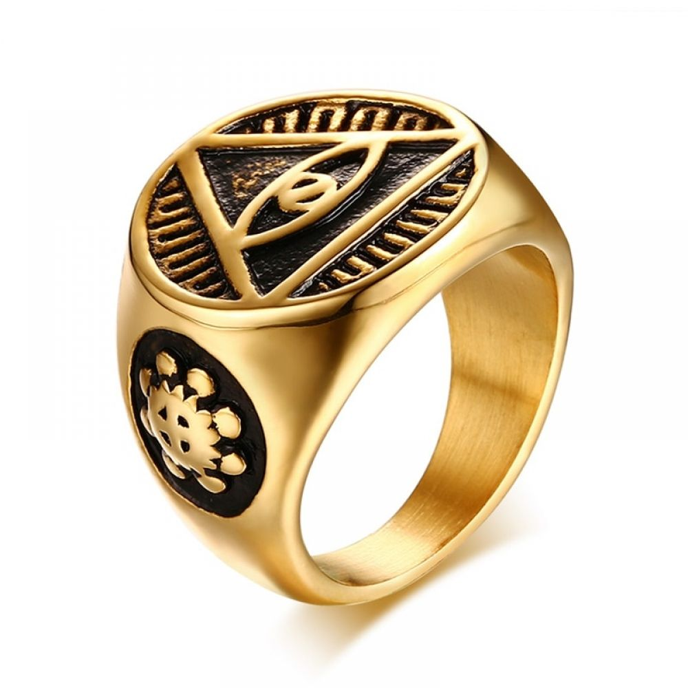 835fa4ae8adfa Antique Triangle Eye of Providence Men's Ring in 2019 | Jewelry ...