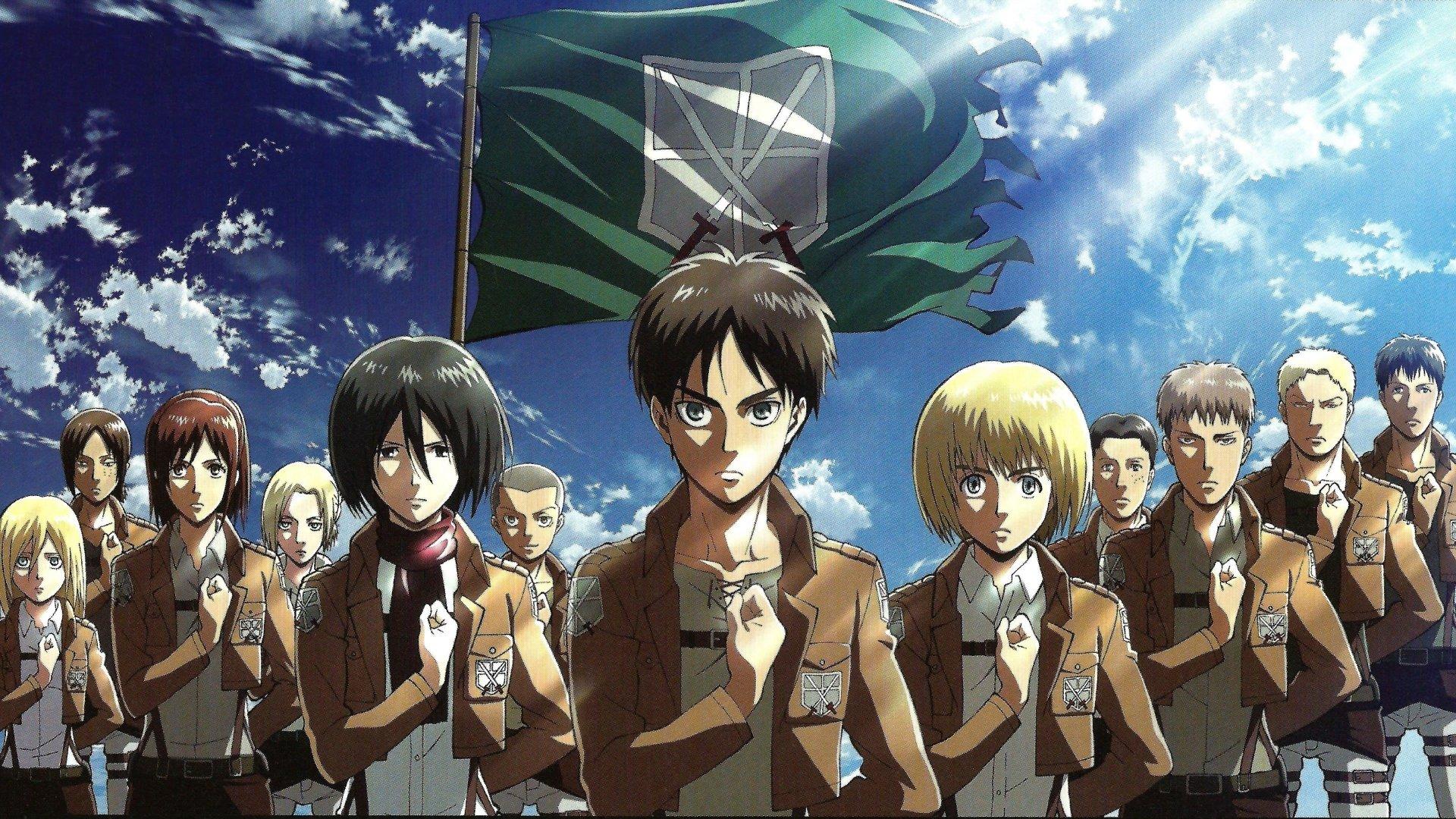 Anime Attack On Titan Bertolt Hoover Reiner Braun Jean Kirstein Marco Bott Armin Arlert Eren Yeager Mikasa A Attack On Titan Season Attack On Titan Anime Anime