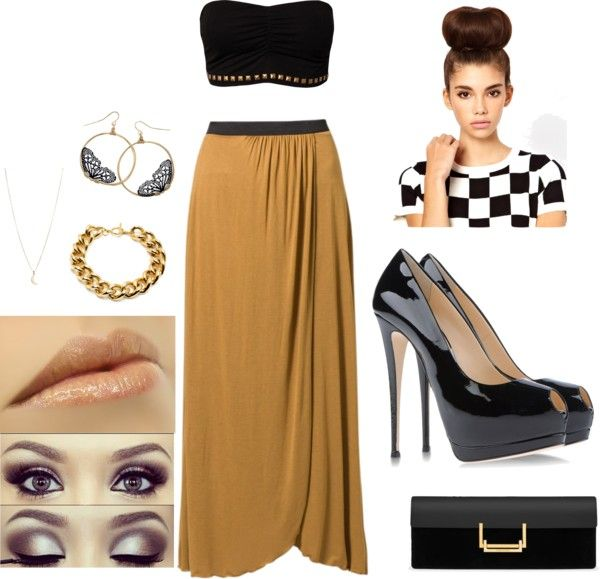 """""""Nude"""" by ninibissh ❤ liked on Polyvore"""
