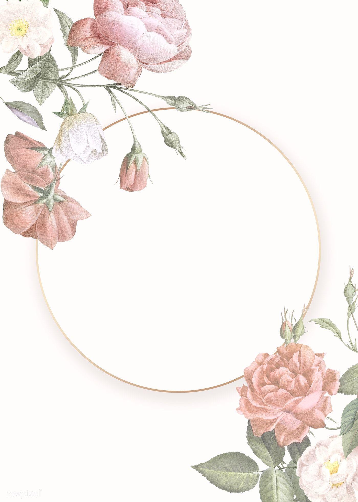 Elegant Floral Frame Design Illustration Premium Image By Rawpixel Com Floral Border Design Floral Logo Design Illustration Design