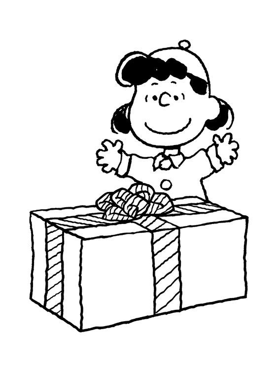 charlie brown christmas coloring pages lucys present