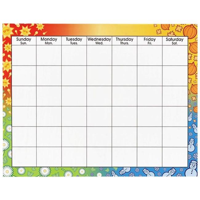 Blank Monthly Calendar Frame Template Blank Monthly Calendar