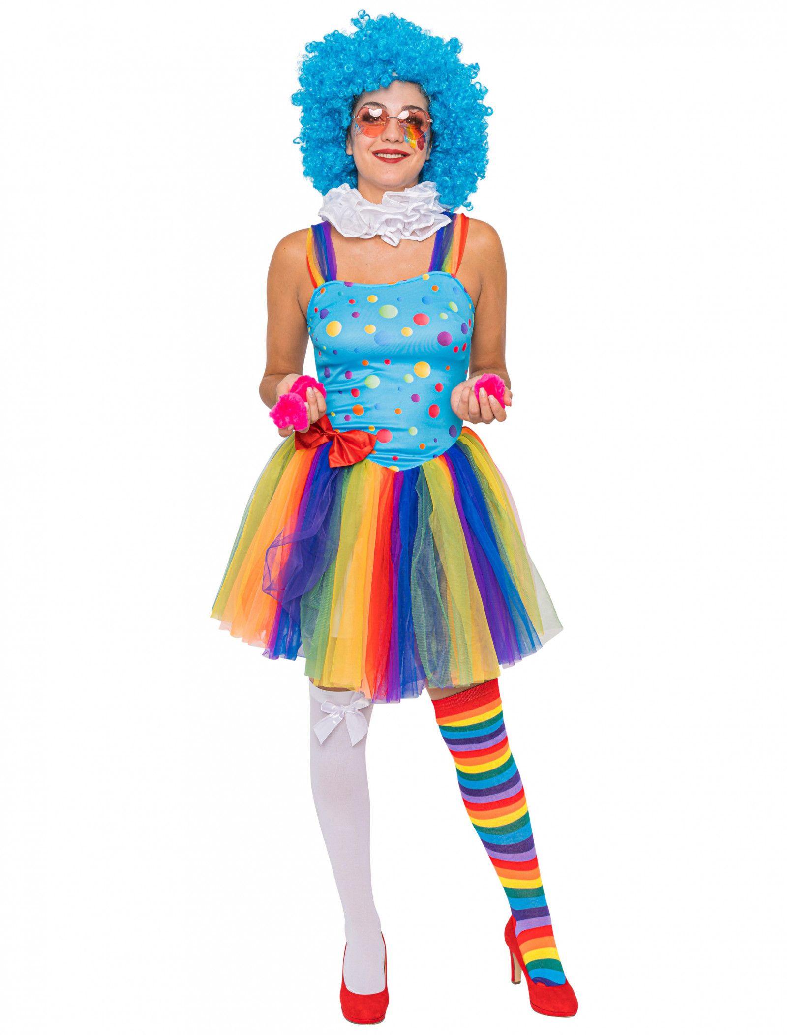 Kleid Regenbogen Clown in 2020 (mit Bildern) | Fasching ...
