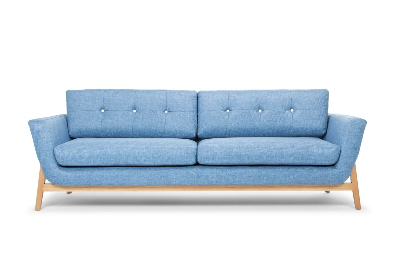 Tess Sofa Denim Blue Tinted Light Summer Sunshine Summer