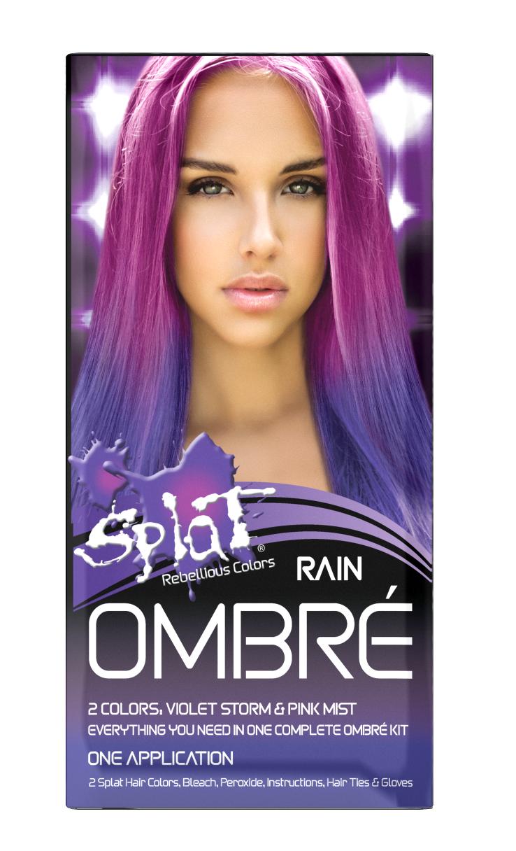 Splat Complete Kit Ombre Rain Semi Permanent Purple Pink Hair Dye With Bleach Walmart Com In 2020 Pink Hair Dye Splat Hair Color Hair Color