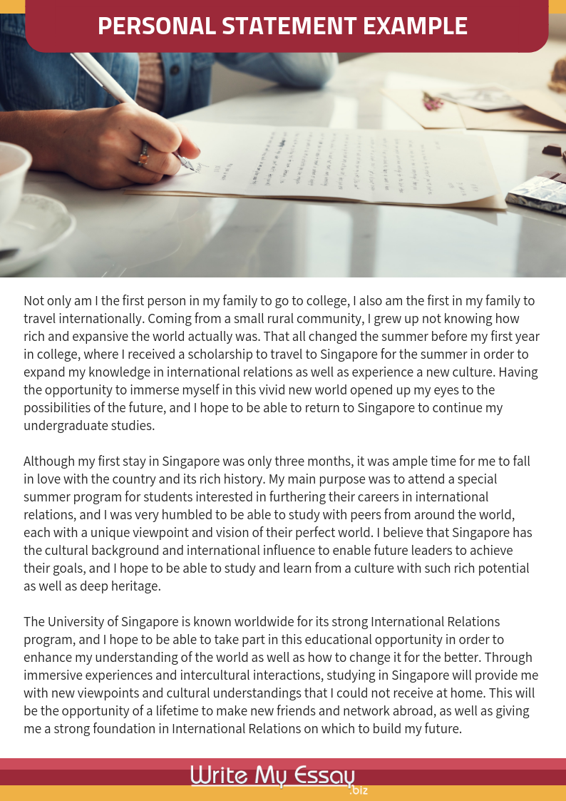 Professional personal statement examples Singapore that