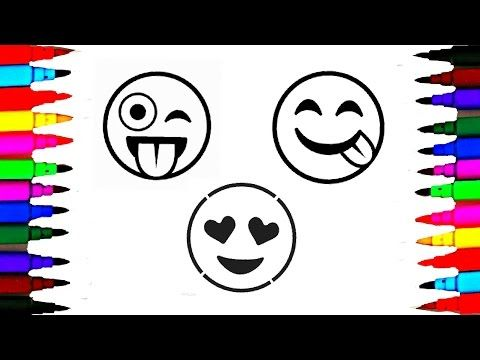 Coloring Pages Of Children S Faces : How to draw and color emoji l emoji faces coloring pages videos