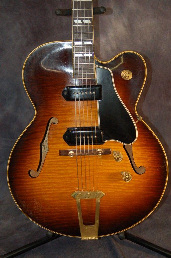 used guitars sale 1951 gibson es 350 single cutaway guitar with original case 6500 rare. Black Bedroom Furniture Sets. Home Design Ideas