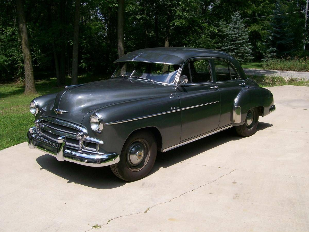 1950 Chevrolet Styleline Deluxe 4 Door Sedan With Images Chevrolet Cool Old Cars Cars For Sale