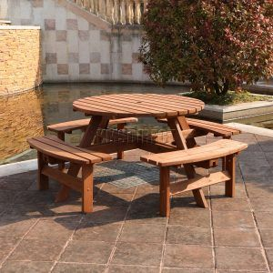 Seater Round Wooden Picnic Table Httpcapturecardiffcom - 8 seater round picnic table