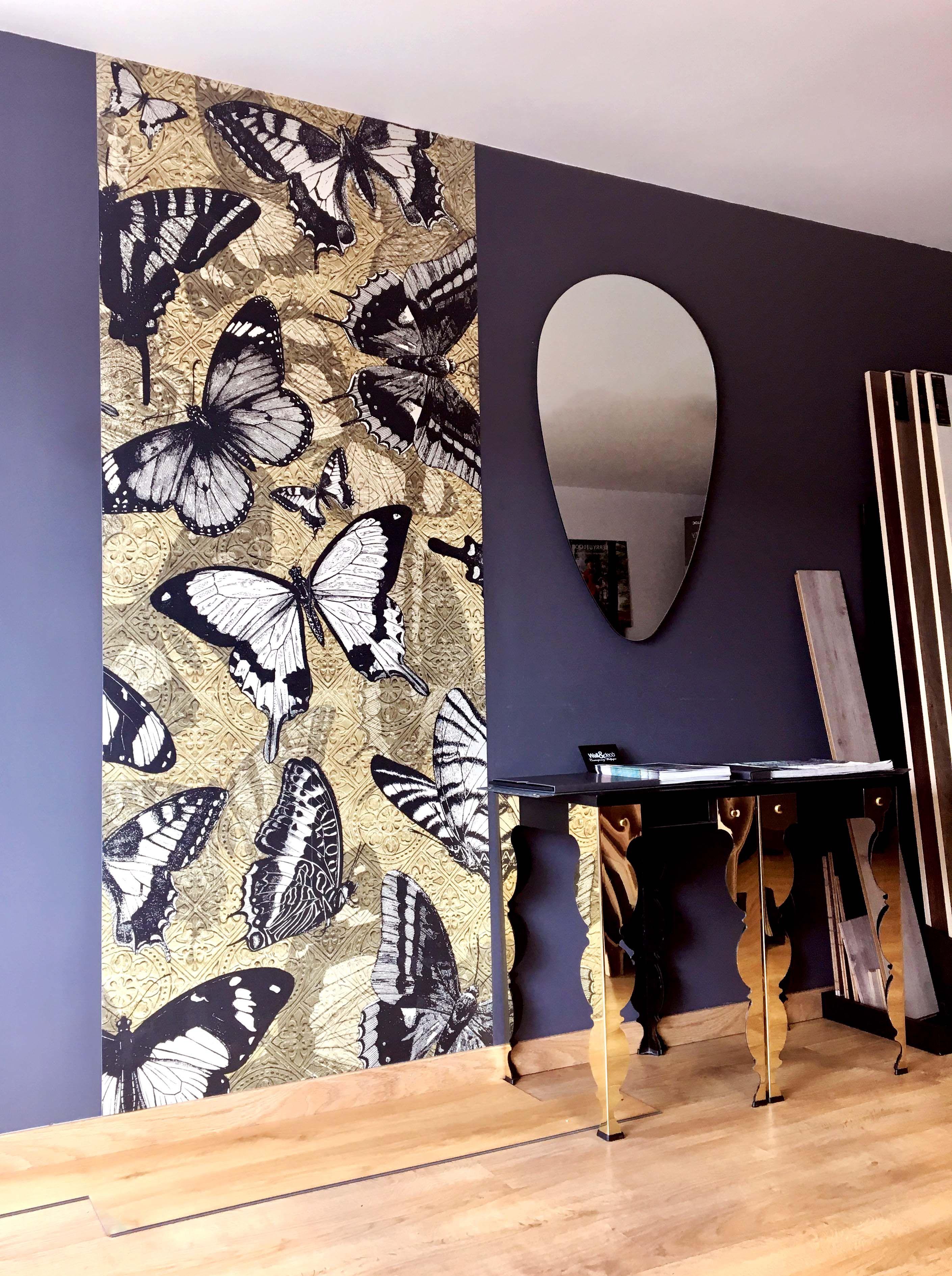 show room ajaccio corsica parquet papier peint papillons wallpaper showroom pinterest. Black Bedroom Furniture Sets. Home Design Ideas