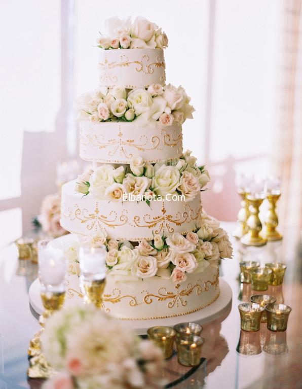 كعكة الزفاف 2014 اشكال كيكات الزفاف كيكة حفلات الزواج بالصور ليلة العمر عروس بنوته بنو Beautiful Wedding Cakes Ivory Wedding Cake Gorgeous Wedding Cake