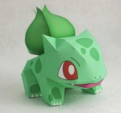Papermau Pokemon Bulbasaur Paper Toy By Ten Pepakura