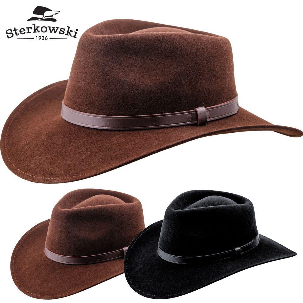 Sharps Wool Felt Wide Brim Fedora   Cattleman Cowboy Vintage Handmade  Western in Clothing c79d5bf7f6fd