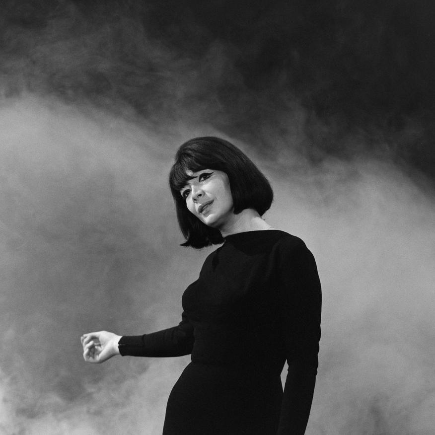 """Juliette Gréco sur le plateau de l'émission """"La valse à travers la Carte du Tendre"""""""