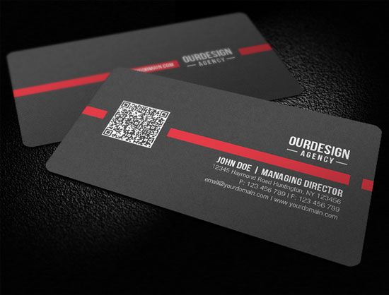 Rounded corner black color qr code business card design design rounded corner black color qr code business card cheaphphosting Image collections