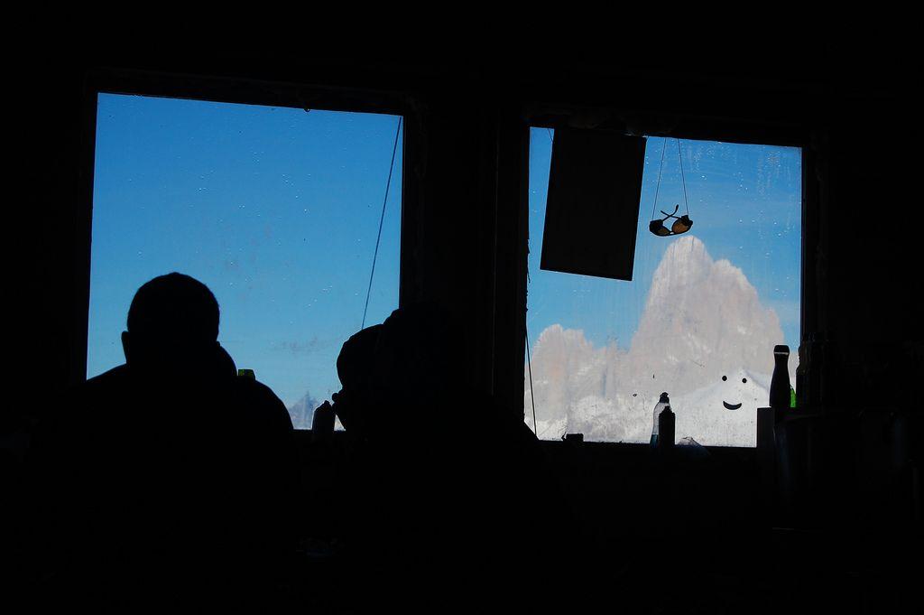 desde Chile (campo de hielo-sur), vista de la parte chilena del monte Fitz-Roy.