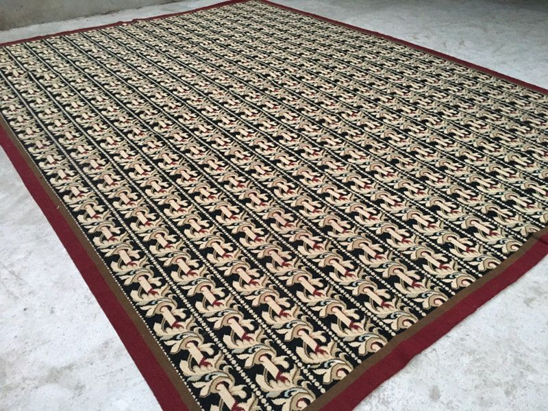 11x8 Amazing Large Black Aubusson Hand Knotted Kilim Needlepoint Kilim Wool Rug Floral Design Carpets Kilim Turkish Kilim 337 Cm X 250 Cm In 2020 Rugs Kilim Carpets Traditional Kilim Rug