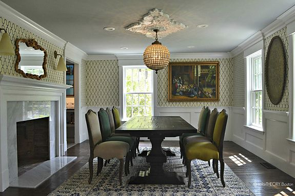 Interior design firm Color Theory Boston featured Moroccan 5691 Navy