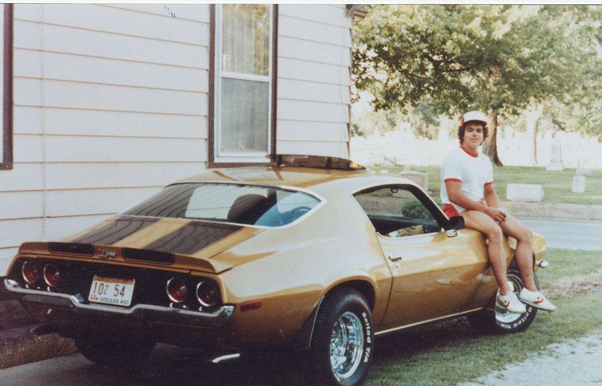 John Schnatter The Founder And Owner Of Papa John S On His 72 Camaro Back In 1979 Papa Johns Camaro Camaro Z