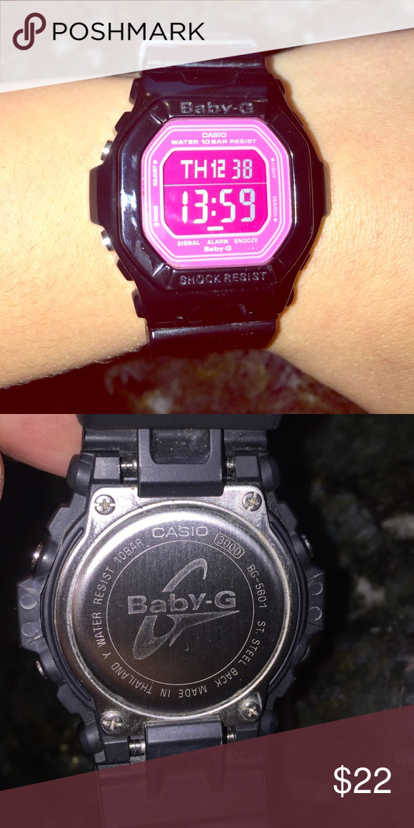 8a23bc4463 Baby G-Shock Black and pink g shock, like new. Accessories Watches ...