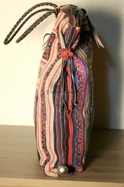 hmong textile bag _ DAZZLING LANNA on etsy