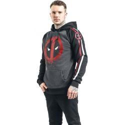 Photo of Deadpool Symbol Herren-Kapuzenpullover – schwarz grau meliert – Offizieller & Lizenzierter Fanartike