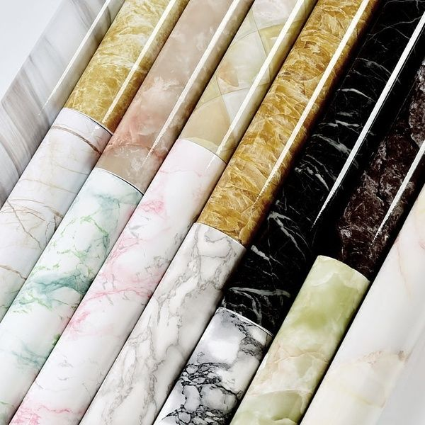 61cm X 3m 2ft X 9 8ft Roll Marble Pattern Vinyl Wall Stickers Waterproof Removable Self Adhesive Wal Patterned Vinyl Self Adhesive Wallpaper Marble Pattern