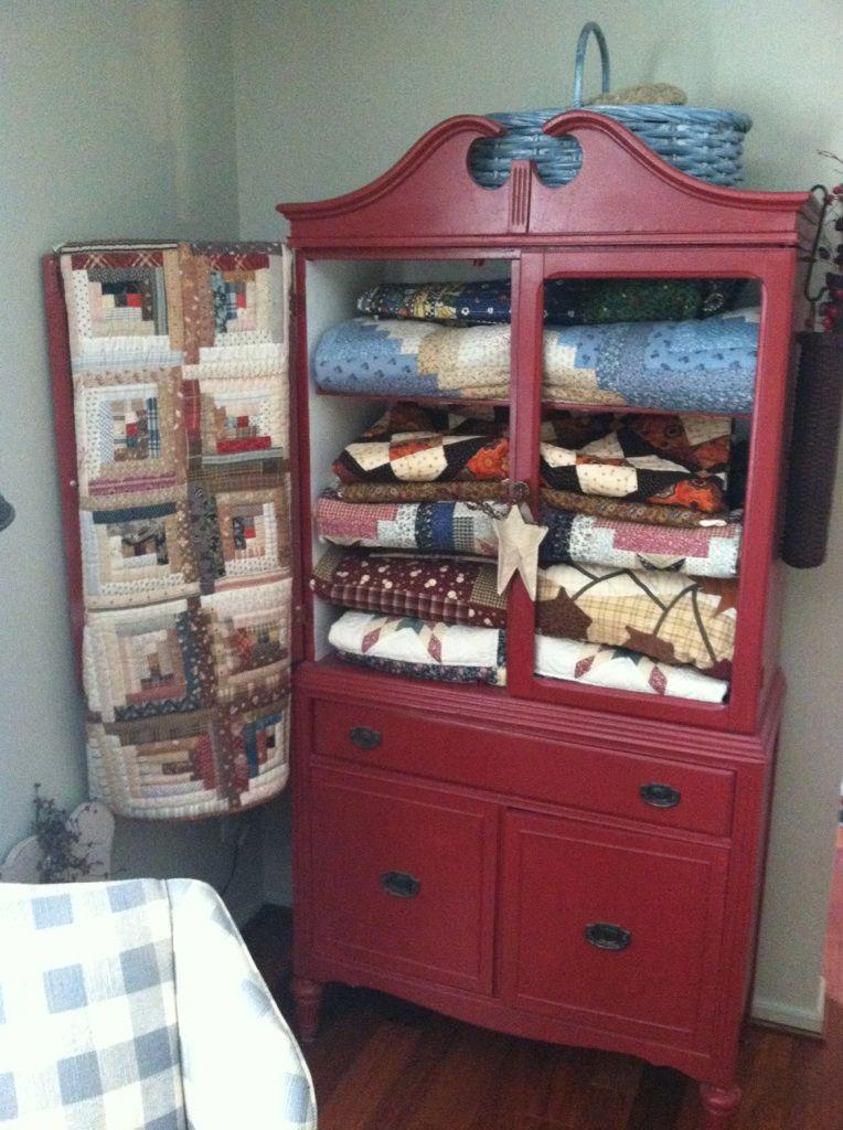 My Quilt Cabinet Quilt Hangers Quilt Storage Quilting Room