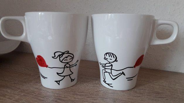 Tasse bedrucken I love you Geschenk Herztasse Valentinstag Hochzeit TOP