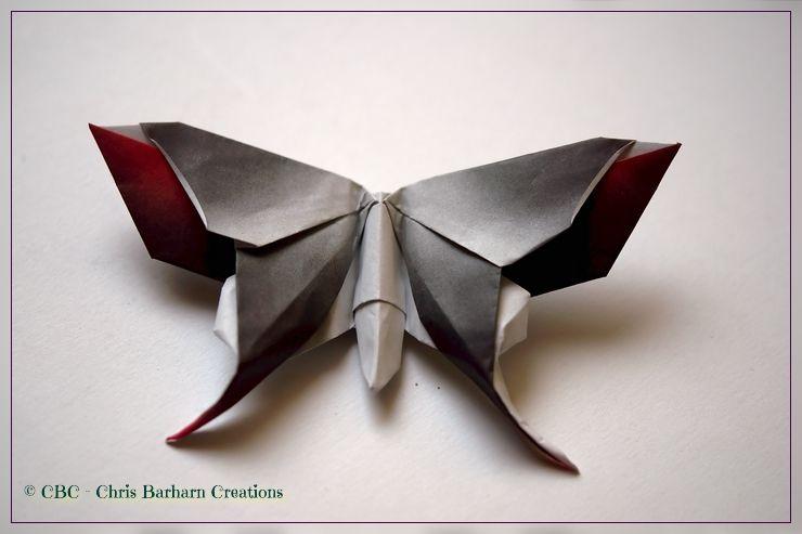 Ein Vergnügen ist es, diesen Schmetterling zu falten - mit dem Verlaufpapier macht es doppelt Spaß