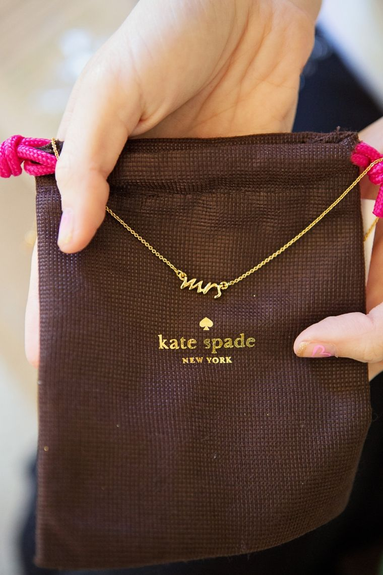 Kate Spade Mrs necklace. Can you secretly tell Cheyenne that i want this (   Hahahhahaha  kaaatlin.