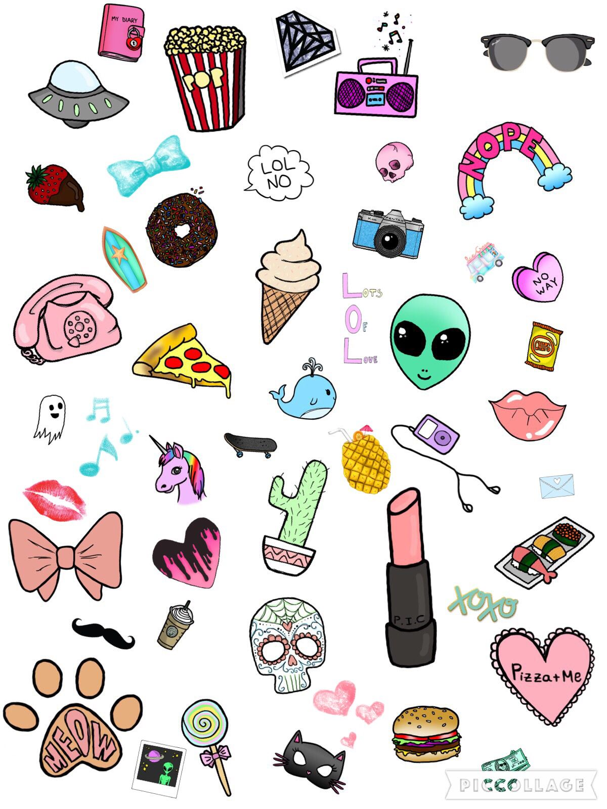 Pin By Shakira On Cute Little Cartoons Aesthetic Stickers Cute