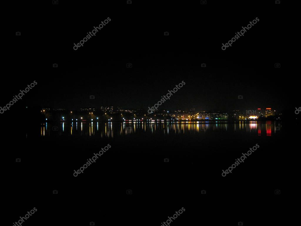 Wonderful Night City Landscape Night City Lights Reflected In T Stock Aff City Landscape Wonderful Night Ad City Lights At Night Night City City Landscape