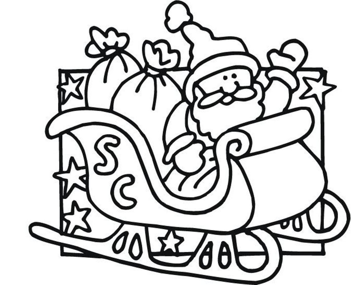 Stunning Christmas Santa Coloring Pictures Uhxngexh For Santa ...