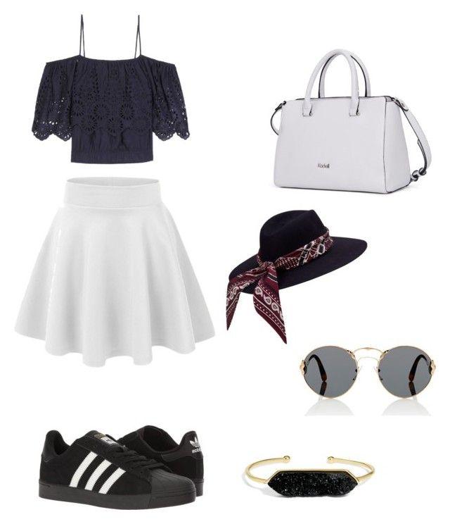 """""""Summer👅"""" by mallaauryrochaa on Polyvore featuring Ganni, adidas, Prada, BaubleBar, men's fashion et menswear"""