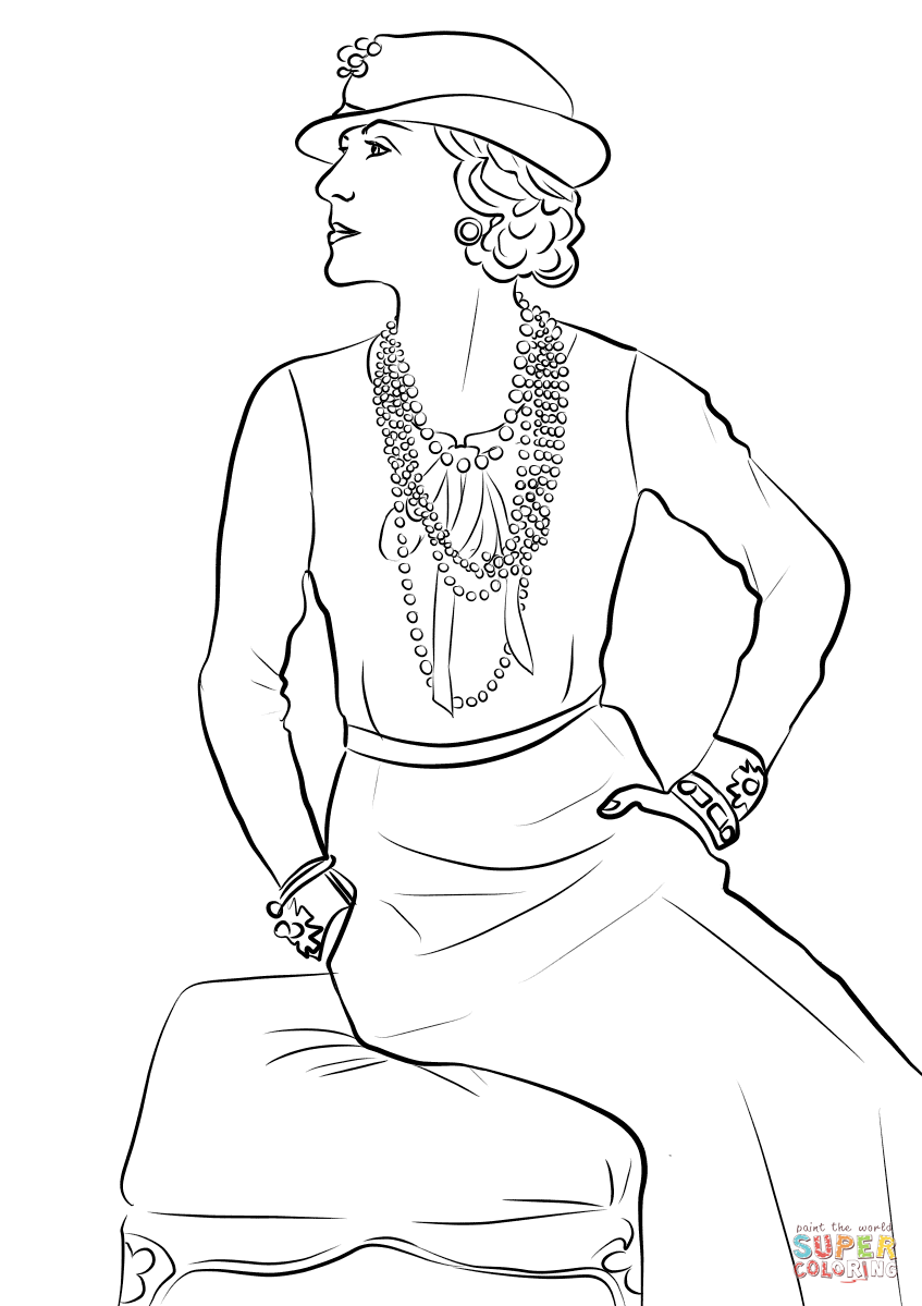 Coco Chanel Coloring Page Free Printable Coloring Pages Embroidery Patterns Free Modern Hand Embroidery Patterns Hand Embroidery Patterns Free [ 1199 x 847 Pixel ]