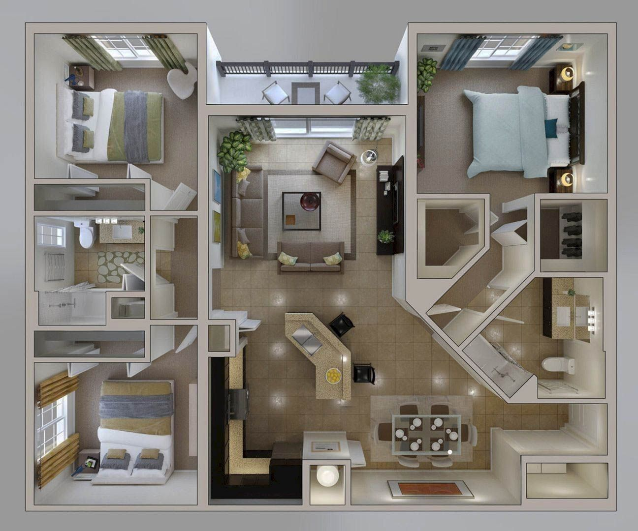 Little Center Apartment Layout Concepts (2019)– Modern
