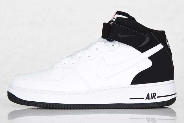 womens nike air force 1 mid white heels