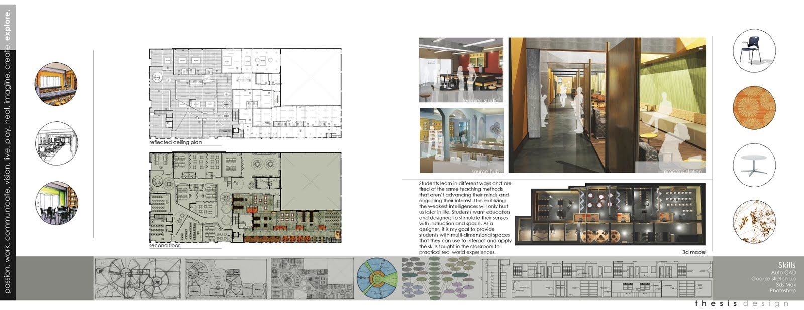 Attractive Interior Design Student Portfolio Book Examples