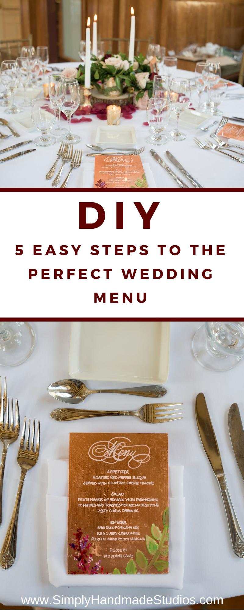 diy wedding menu template — simply handmade  diy wedding