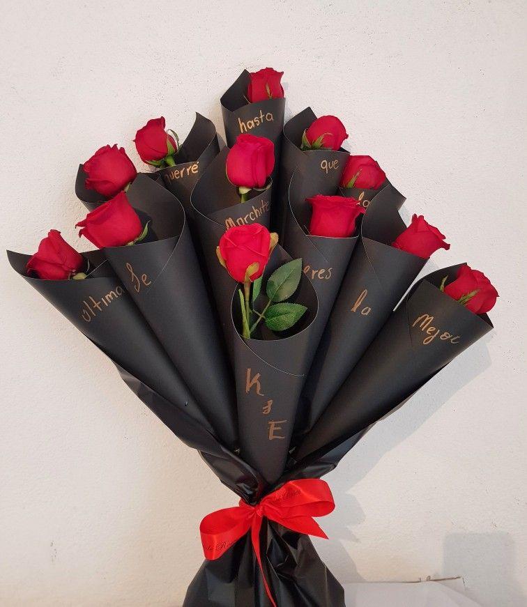 Ramo Con Rosas Rojas Ramo De Rosas Rojas Ramo De Rosas Regalo Para Novia Manualidades