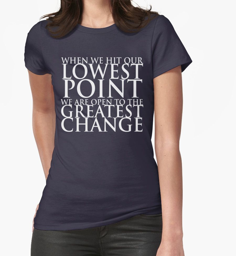 When we hit our lowest point... (For Dark-Colored Shirts) by Eudaemons