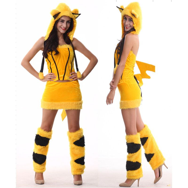 halloween costumes adult women anime sexy pikachu costume fancy dress cosplay clothing for women 2016 newest popular pikachu costume - Pikachu Halloween Costume Women