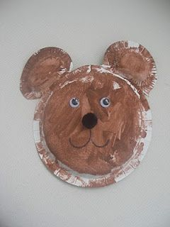 paper plate bear craft & paper plate bear craft | Bear unit | Pinterest | Brown bear Teddy ...