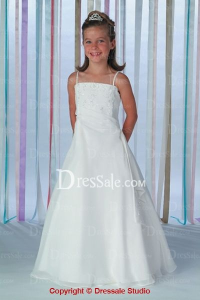 Organza Dresses of Thin Straps for Teenage Girls in Wedding ...