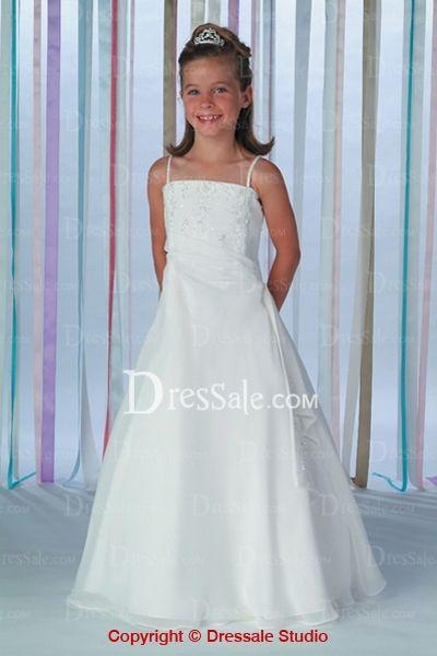 Organza Dresses of Thin Straps for Teenage Girls in Wedding   Sams ...